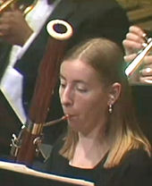 Rosalind playing with Neponset Valley Philharmonic